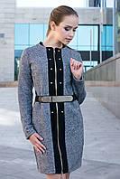Модное платье-кардиган из твида