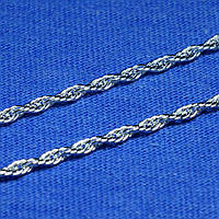 Серебряная крученая цепочка Корда 55 см 901023040