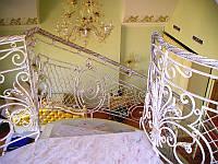 Кованая лестница, ограждение лестницы