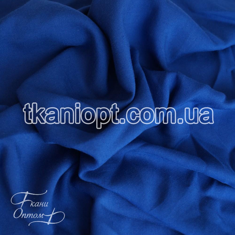 Ткань Штапель однотонный (электро-синий)