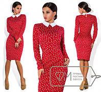 Платье красное с белым воротничком
