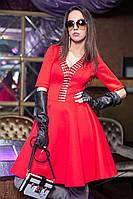 Праздничное платье с клешеным низом, неопрен (разные цвета)