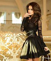 Платье из сетки с 3-х слойным фатиновым подъюбником в расцветках