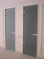 Межкомнатная дверь из матового белого стекла