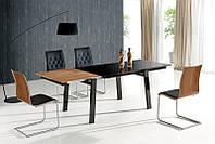Стеклянный  обеденный стол Benedikt (Halmar)
