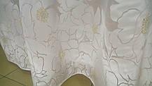 Тюль Цветы Молочные, кристалон Devore, фото 3