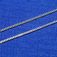 Тонкая серебряная цепочка Панцирная 1,5 мм 50 см 90101104041
