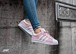 Кроссовки Adidas Superstar 1 Pink White Snake. Живое фото. Топ качество! (Реплика ААА+), фото 7