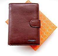 Мужской кошелек, бумажник из натуральной кожи. Коричневый ЕК65-2