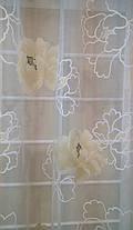 Тюль Цветы Бежевые, кристалон Devore, фото 2