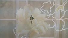 Тюль Цветы Бежевые, кристалон Devore, фото 3