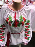 """Вышиванка женская """" Калина """"."""