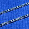 Серебряная цепь мужская Панцирного плетения 55 см 90101110043