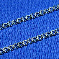 Серебряная цепь мужская Панцирного плетения 55 см 90101110043, фото 1