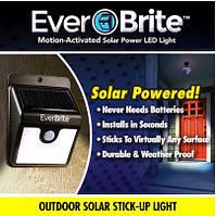 Уличный фонарь на солнечной батарее EverBrite (Эвербрайт) с датчиком движения, фото 1