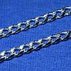 Срібний ланцюжок Панцирний чоловічий 6 мм, 50 см 90101115044