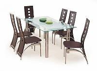 Стеклянный  обеденный стол Bond 160/90 (Halmar)
