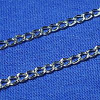 Плоская серебряная цепочка Ромб 45 см 90103205041, фото 1