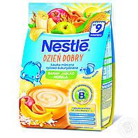 Молочная каша Nestle с рисовая, кукурузная с яблоком,бананом абрикосом и бифидобактериями с 9 месяцев 230 гр.