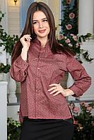 Блузка Брижит красный орнамент, фото 1