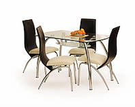 Стеклянный  обеденный стол Corwin bis 125/75 (Halmar)