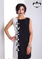 """Платье полуприлегающего силуэта без рукавов, украшает аппликация """"Luzana"""""""