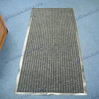 Коврик грязезащитный Широкий рубчик, 66х185см., серый темный