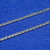 Серебряная цепочка 45 см Двойной Ромб 2,5 мм 90106204041, фото 1
