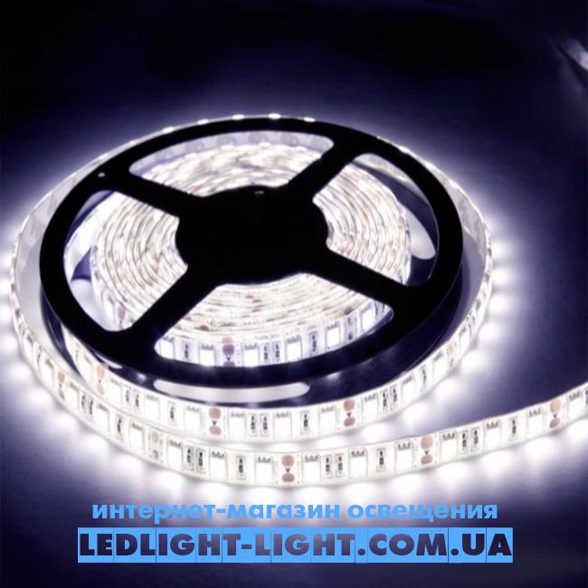 """Світлодіодна стрічка """"LC"""" 12 V 5050 60 діодів/метр 14.4 W білий холодний, без силікону"""