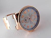 Стильные часы - Ulysse Nardin - Le Locle на белом каучуковом ремешке, цвет корпуса золото, белый циферблат