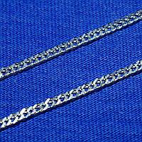 Мужская серебряная цепь на шею Двойной Ромб 55 см 5.7 грамм 90106205041