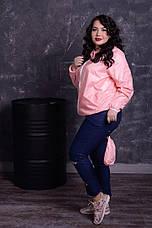 Розовая легкая ветровка с капюшоном, фото 2