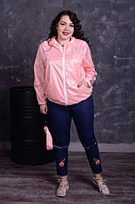 Розовая легкая ветровка с капюшоном, фото 3