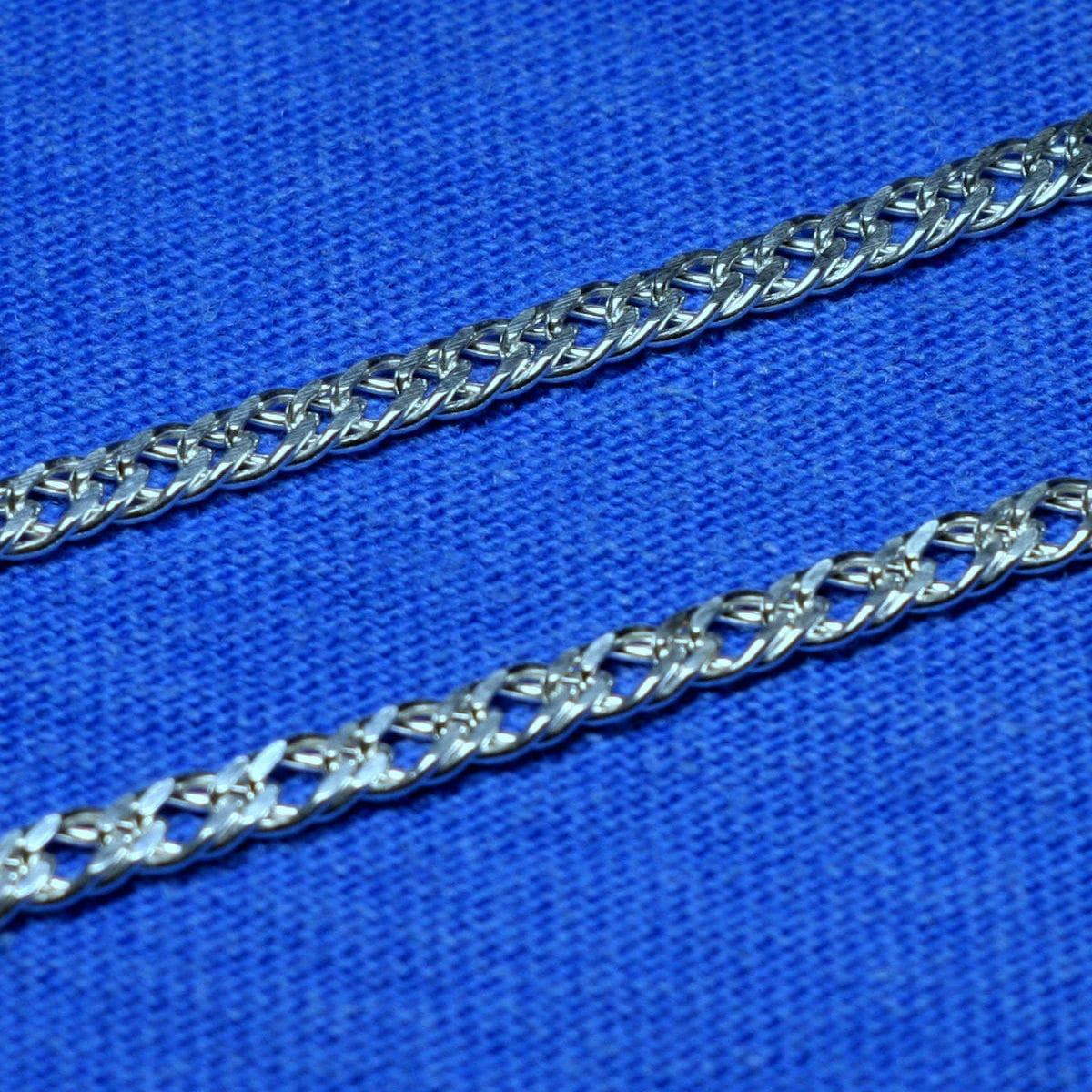 Серебряная цепочка Двойной Ромб 3,5 мм 50 см 90106206041, фото 1