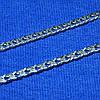 Срібний ланцюг Подвійний Ромб 925 проби 55 см 90106206041