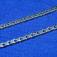 Срібний ланцюг Подвійний Ромб 925 проби 55 см 90106206041, фото 1