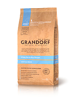 Корм для собак всех пород белая рыба Grandorf Sensitive Care Holistic White Fish & Rice All Breeds 12 кг.