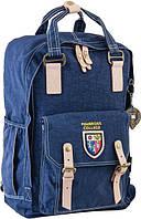 554019 Рюкзак подростковый OX 195, синий, 27.5*42*12