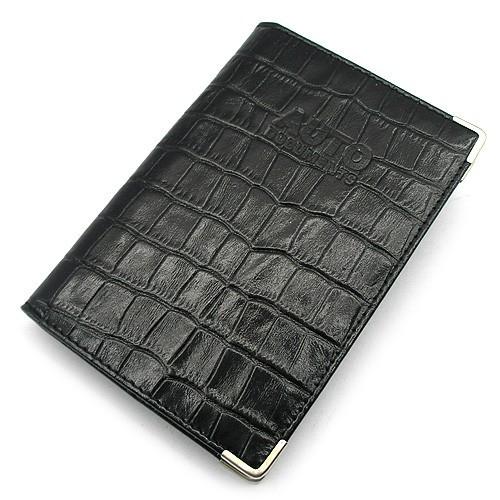 Обложка для прав уголок кожаная черная Desisan Турция