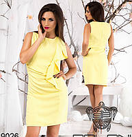 Летнее желтое платье с воланом
