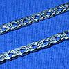 Широкий срібний ланцюг Подвійний Ромб 6 мм 50 см 90106210043