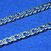 Широкая серебряная цепочка Двойной Ромб 6 мм 55 см 90106210043