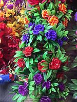 Пластмассовый искусственный букет, разные цвета в упаковке, фото 1