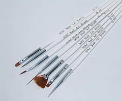 Набор кистей ( 7 шт. белые, с роз.) B-11 YRE