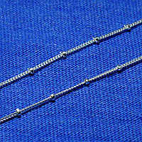 Детская серебряная цепочка с шариками Сатурн-Панцирь 45 см 2.1 грамм 93101103041