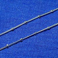 Серебряная цепочка с шариками женская 55 см 93101103041, фото 1