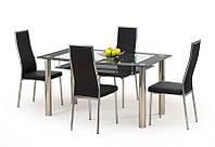 Стекляный обеденный стол Cristal 150/90 (Halmar)
