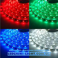 "Светодиодная лента ""LC"" 12 V 5050 30 диодов/метр 7.2W RGB, без силикона"