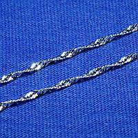 Серебряная цепь Сингапур 50 см 90127203051, фото 1
