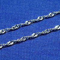 Серебряная цепочка Сингапур 2,5 мм 45 см 90127204051, фото 1